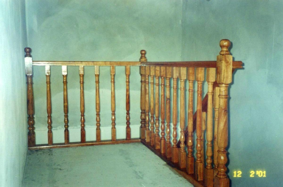 Barandas de madera escaleras baranda de madera barandas - Baranda de madera ...