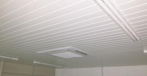 colocación de cielorrasos y paredes en pvc