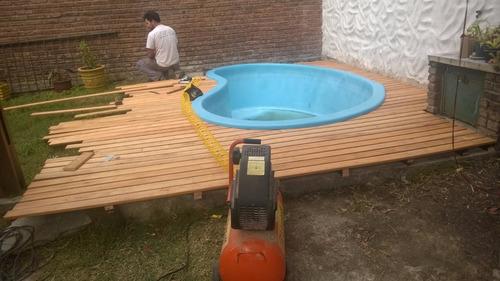 colocacion de deck pergola pisos primera calidad