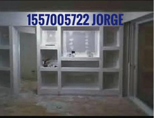 colocacion de durlock con materiales $900x mt2