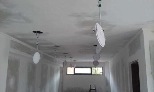 colocación de durlock, pintura y electricidad