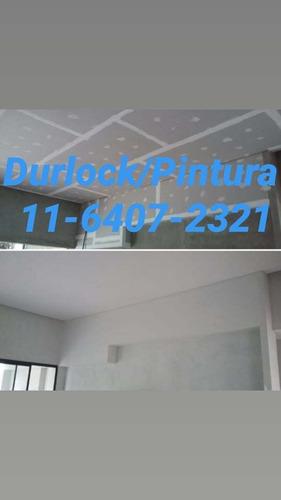 colocación de durlock,albañilería,pintura