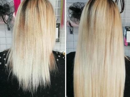 colocación de extenciónes de cabello