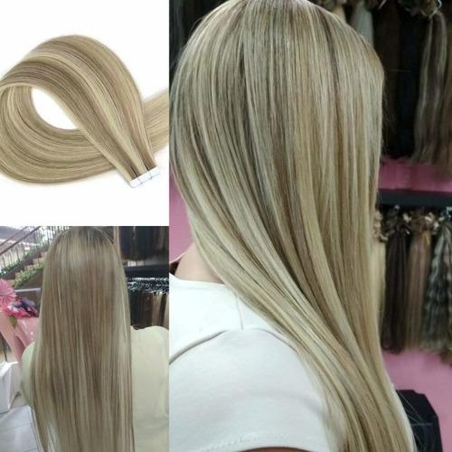 colocación de extensiones de cabello