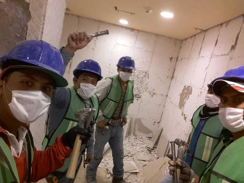 colocación de mármol y porcelanato