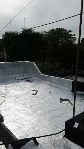colocacion de membrana asfaltica en todo tipo de techos.
