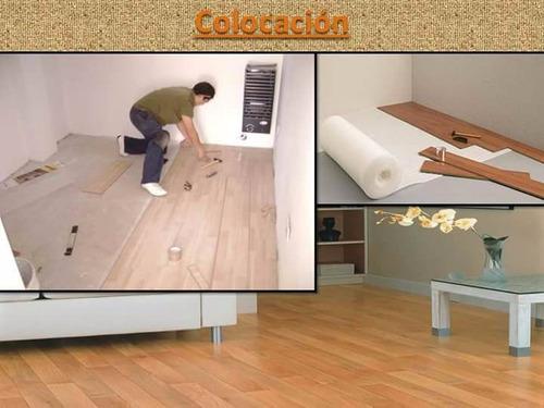 colocacion de piso flotante, piso vinilico, zocalos, etc.