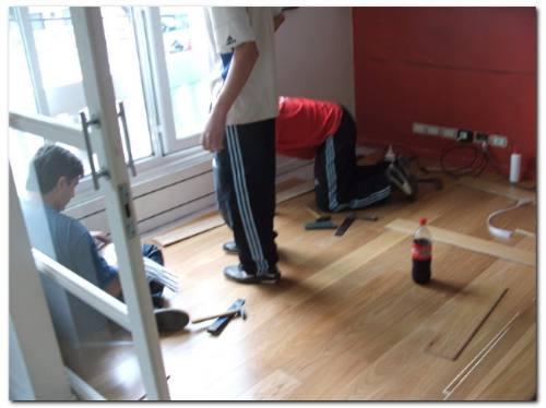 colocación de pisos flotantes colocador . por m2