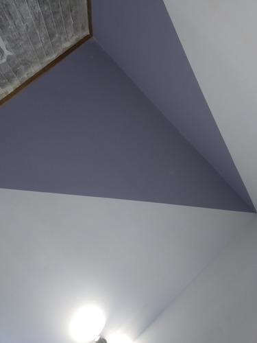 colocación de yeso, pintura y electricidad