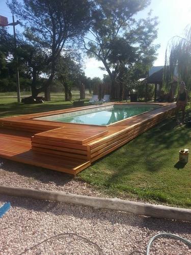 colocacion deck de madera c/materiales o s/ materiales