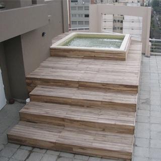 colocacion deck de madera madera dura guayubira restrata etc