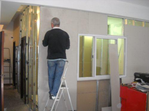 colocacion durlock cielorraso tabiques paredes lanús