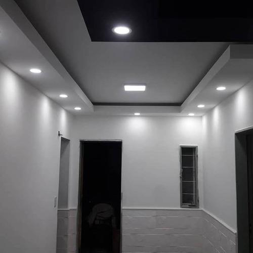 colocación (durlock) inst. eléctrica y servicio de pintura.