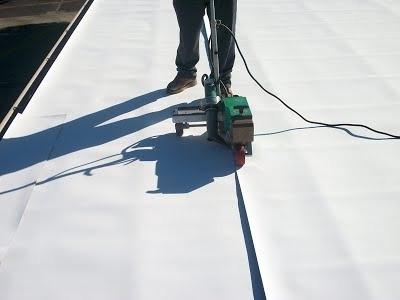 colocacion membrana pvc liner techos terrazas impermeable