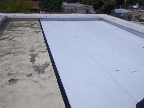 colocacion membranas asfalticas con aluminio y  antigranizos