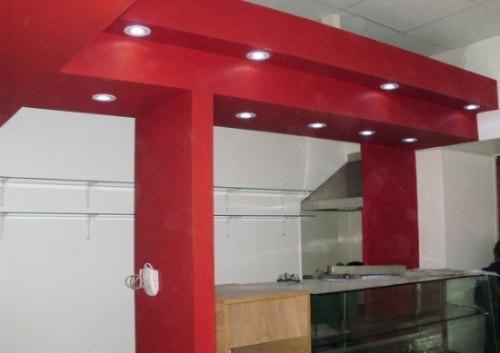 colocación pared y techo en durlock - placa anti humedad