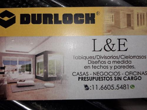 colocacion y venta de durlock! $500 el m2 !!