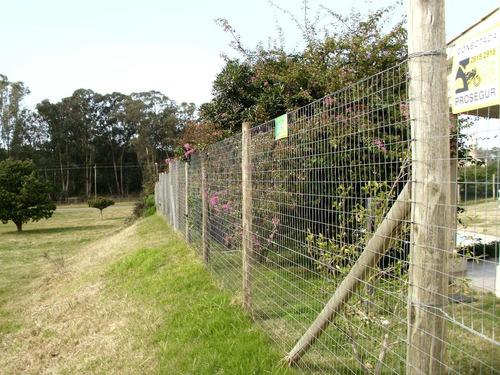 colocaciones tejidos alambre malla postes curados