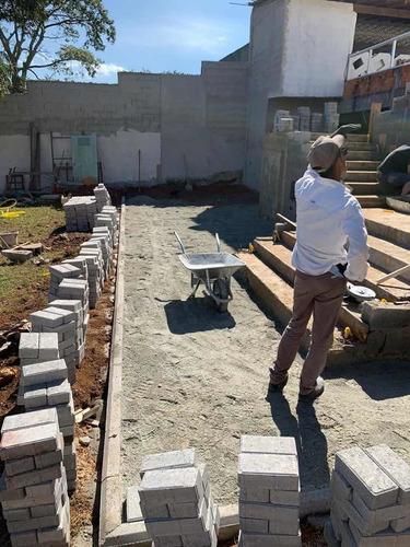 colocação de bloquete paver completo