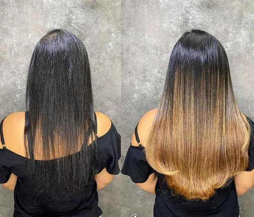 colocação mega hair