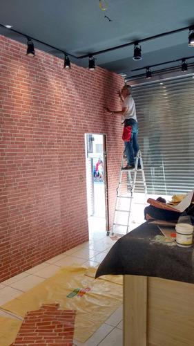 colocação papel de parede e papel adesivado/adesivo