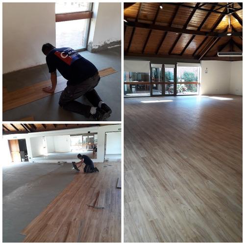 colocador: piso vinilico, liston,alf. modular y areas sanit.