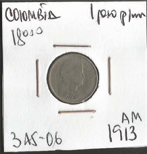 colombia 1 peso papel moneda 1913 am jer345.06
