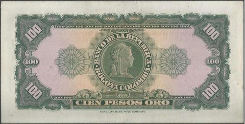 colombia, 100 pesos 1 ene 1964 bgw295
