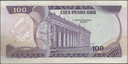 colombia, 100 pesos 1 ene 1980 serie b  bgw313