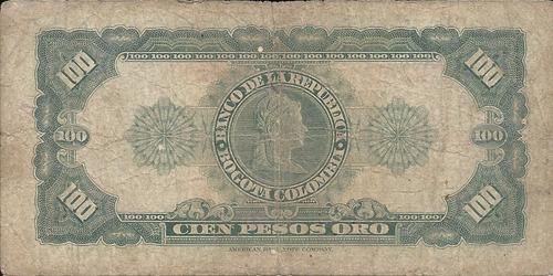colombia 100 pesos oro 7 agosto 1958