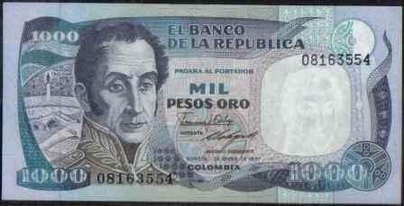 colombia 1000 pesos 1 ene 1987 tdlr bgw416
