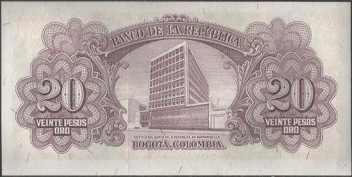 colombia, 20 pesos 2 ene 1961 bgw220