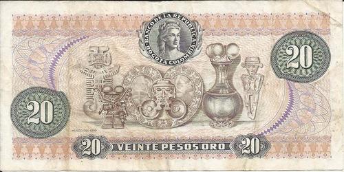 colombia 20 pesos oro 1 enero 1982