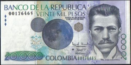 colombia 20000 pesos 1 may 2000 bgw711 reposicion rombo