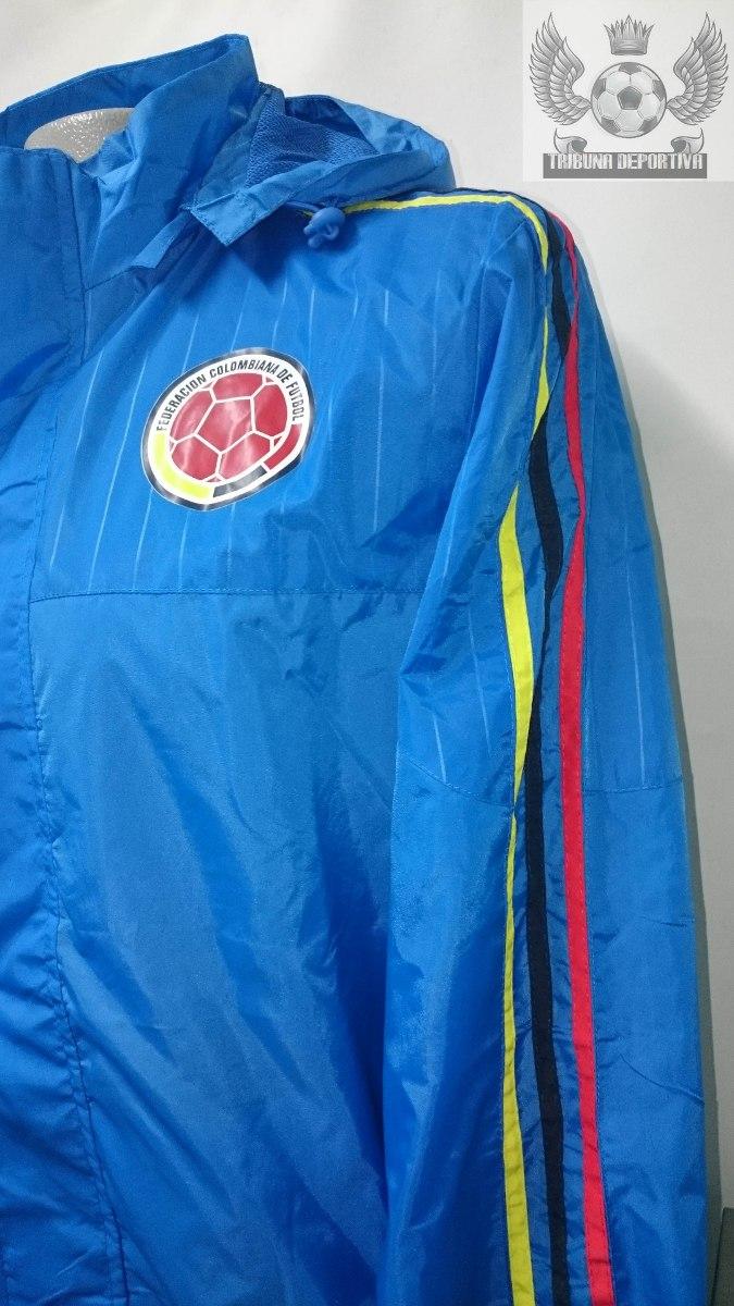 Cargando zoom... chaqueta seleccion colombia oficial 2015 entrenamiento azul 51c04e4629c6e