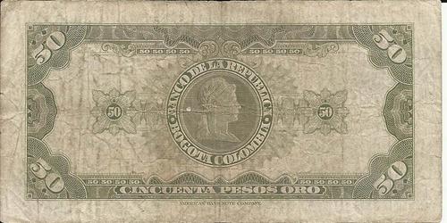 colombia 50 pesos oro 7 de agosto 1960