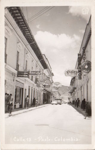 colombia antigua postal calle 18 de pasto publicidad stetson