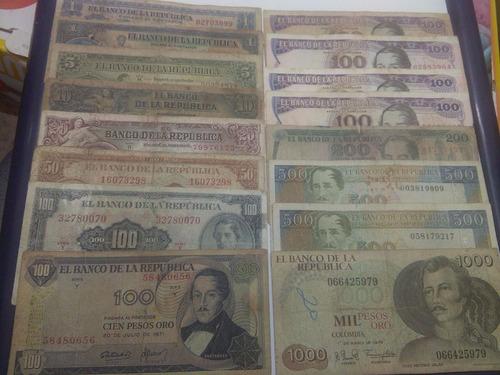 colombia colección billetes