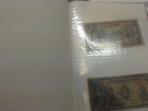 colombia colección de 60 billetes con álbum 1953 - 2002