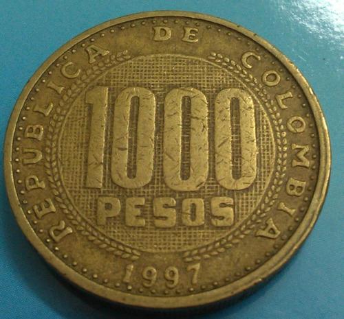 colombia  moneda 1000 pesos 1997