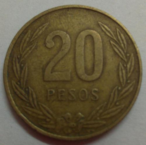 colombia moneda 20 pesos 1985