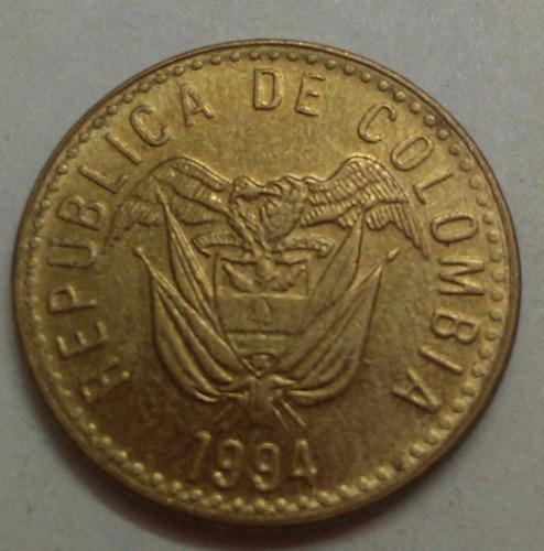 colombia moneda 20 pesos 1994