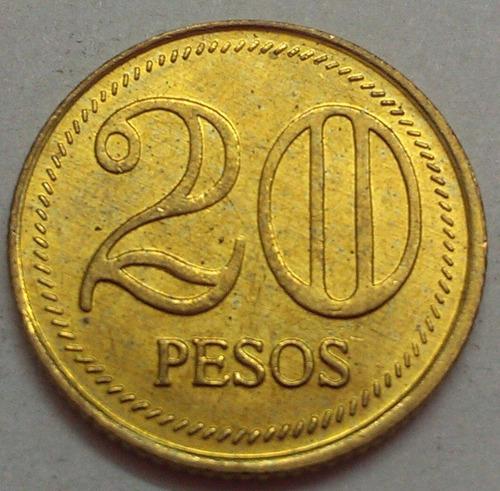 colombia moneda 20 pesos 2006
