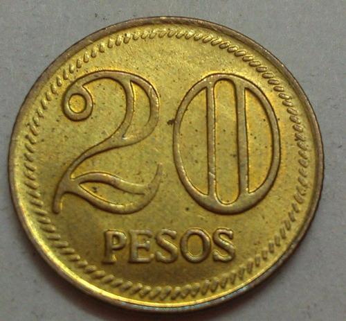 colombia moneda 20 pesos 2007