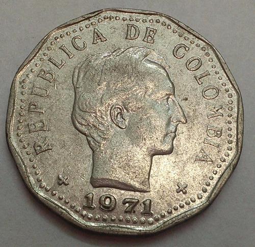 colombia moneda 50 centavos 1971