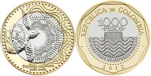 colombia moneda de 1000 pesos completamente nueva !!!!!!!!!!