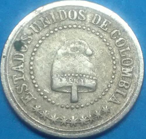 colombia  monedas 21/2 centavos 1881 pequeña