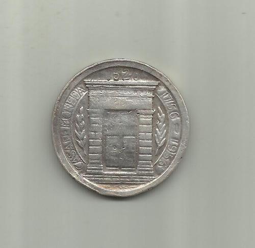 colombia un peso casa de la  moneda 1956,plata ley 900, 25g