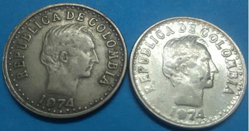 colombia variedad 20 centavos 1974 ( mirar 9 remarcado)