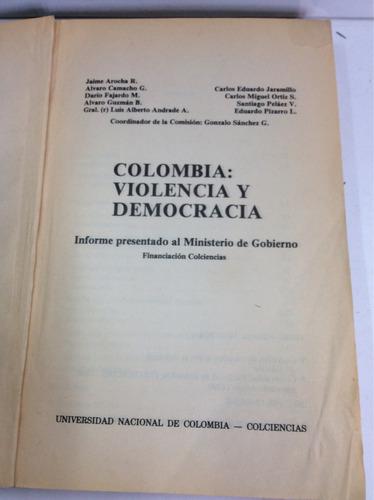 colombia, violência y democracia, gonzalo sánchez g.